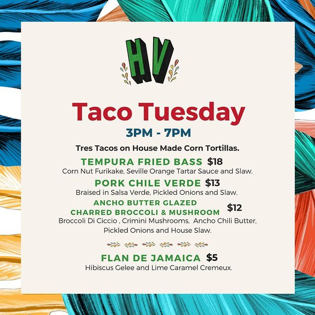 Hermanos Verdes Taco Tuesday Menu