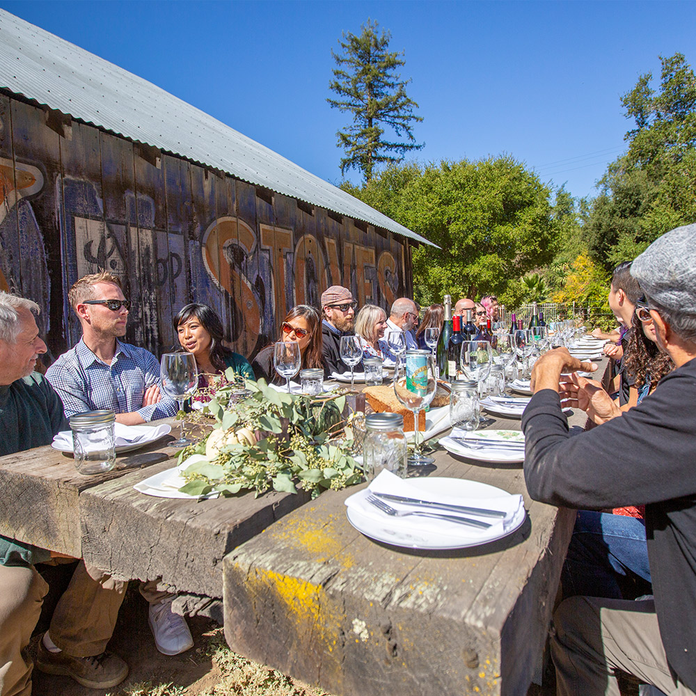 Castro Valley Marketplace Team at Table at Palomares Barn