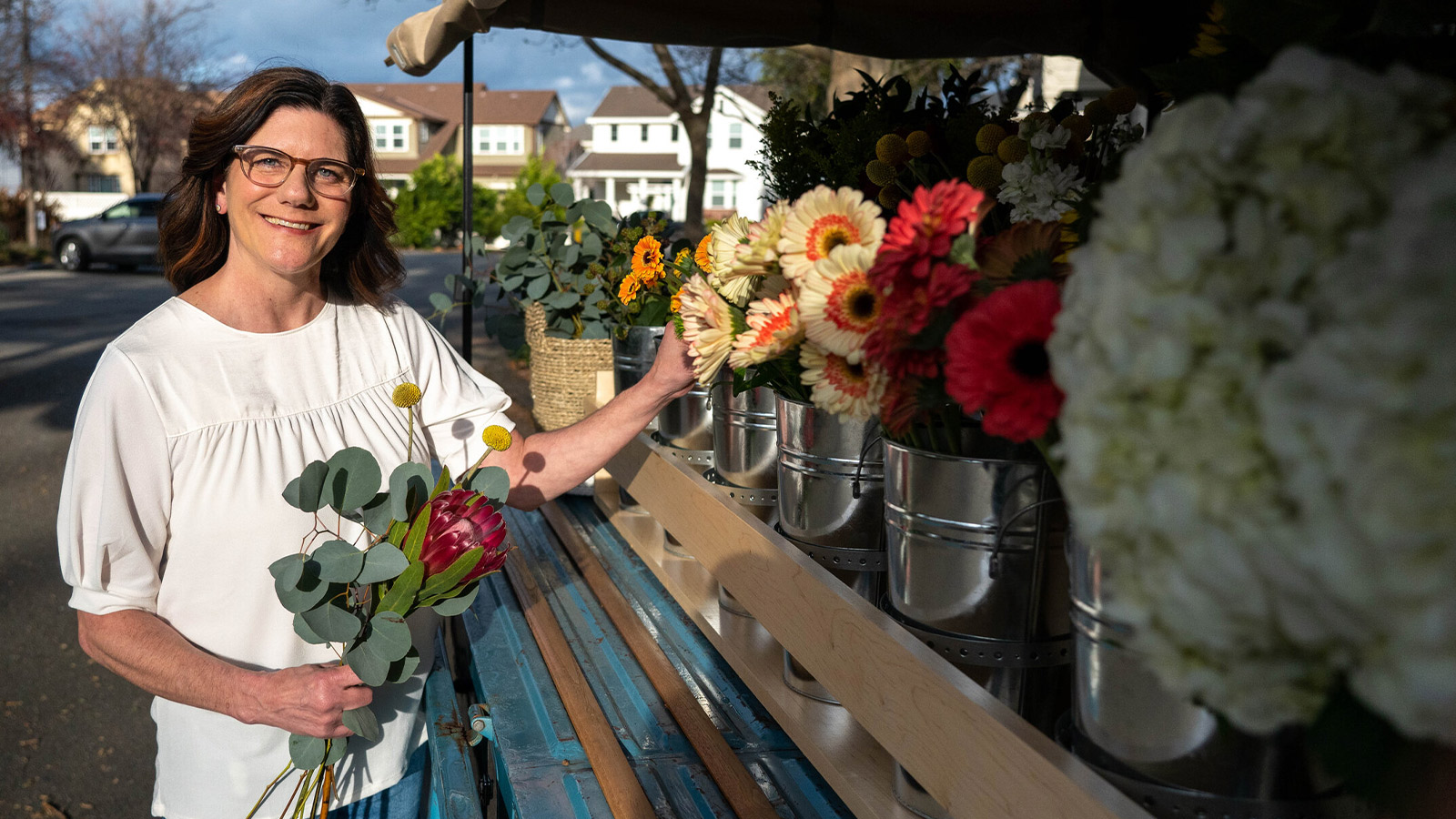 Kristina Lux the owner of Sweet Pea the Flower Truck
